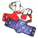 Plastron Taekwondo réversible BLEU/ROUGE