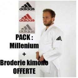 Pack broderie offerte sur Kimono Adidas Millenium - J990