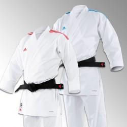 Kimono Karaté REVOFLEX Adidas Bandes Bleues ou Rouges