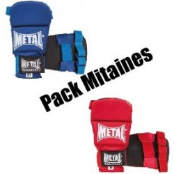 Pack mitaines Ju Jitsu Metal Boxe