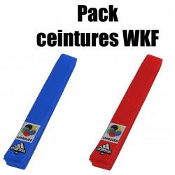 Pack ceintures WKF Adidas
